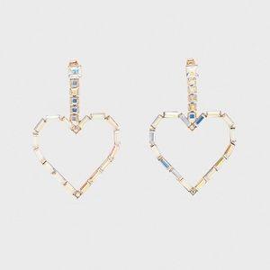 Zara hearts 💕 earrings